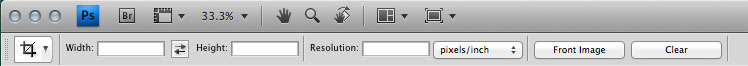 photoshop crop toolbar