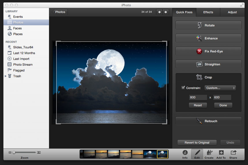 Resizing Pics With iPhoto